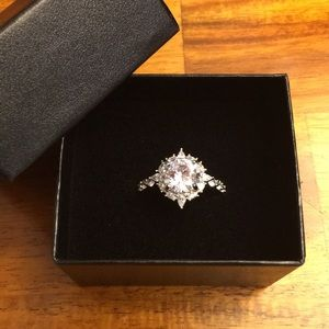 New Wedding CZ Ring With Box